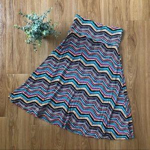 LuLaRoe Colorful Chevron Skirt